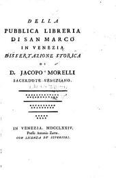 Della pubblica libreria di San Marco in Venezia