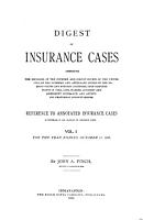 Digest of Insurance Cases PDF