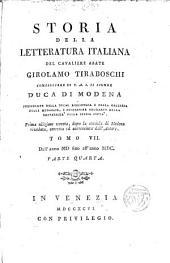 Storia della Letteratura italiana: Volume 8,Parte 1