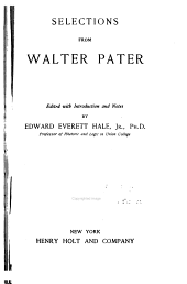 Selections from Walter Pater