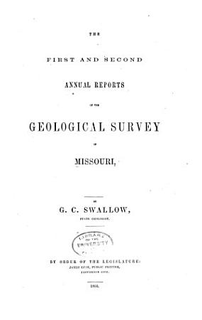 First   fifth  Report of Progress of the Geological Survey of Missouri PDF