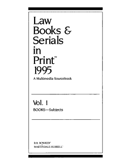 Bowker s Law Books and Serials in Print PDF
