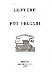 Lettere di Feo Belcari