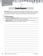 The Outsiders Reader Response Writing Prompts