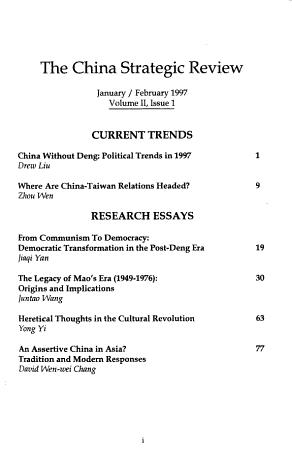 China Strategic Review PDF