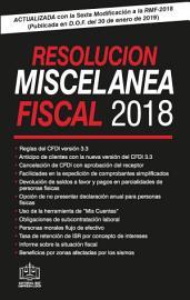 RESOLUCION MISCELANEA FISCAL 2019 PDF