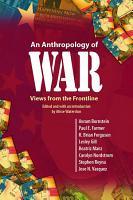 An Anthropology of War PDF