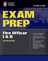 Exam Prep  Fire Officer I   II PDF