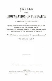 Annals of the Propagation of the Faith: Volumes 65-66