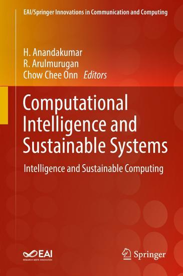 Computational Intelligence and Sustainable Systems PDF
