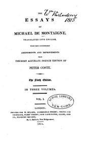 The Essays of Michael de Montaigne: Volume 1