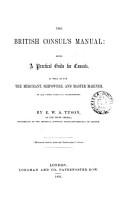 The British Consul s Manual PDF