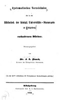 Systematisches verzeichniss der in der bibliothek der K  nigl  universit  ts sternwarte zu K  nigsberg enthaltenen b  cher PDF