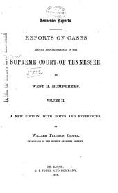 Reports of Cases Argued and Determined in the Supreme Court of Tennessee: Volume 21