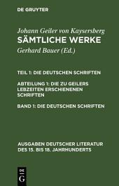 Die deutschen Schriften