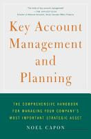 Key Account Management and Planning PDF
