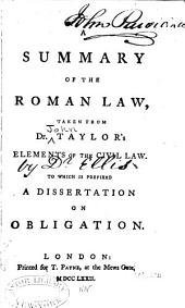 A Summary of the Roman Law