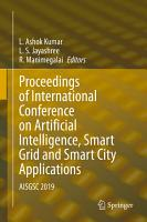 Proceedings of International Conference on Artificial Intelligence  Smart Grid and Smart City Applications PDF
