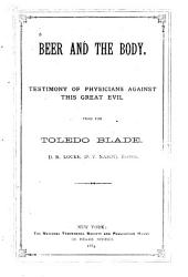 Beer and the Body: Testimony of Physicians Against this Great Evil