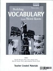 Building Vocabulary From Word Roots Grade 6 Kit Ebook Book PDF