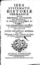 Idea Systematis Historiae Germanicae