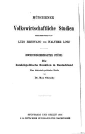 Die handelspolitische Reaktion in Deutschland: eine historisch-politische Studie
