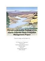 Highlighted Scientific Findings of the Interior Columbia Basin Ecosystem Management Project