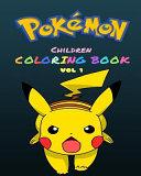 Pokemon Children's Coloring Book Vol 1