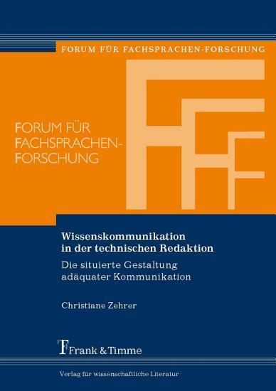 Wissenskommunikation in der technischen Redaktion PDF