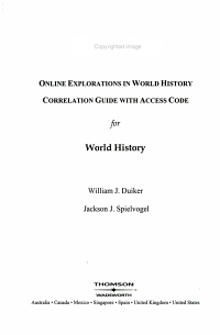 Online Study Guide for Duiker s the Essential World History  2nd