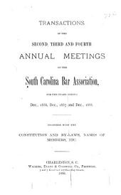 Transactions of the ... Annual Meeting of the South Carolina Bar Association