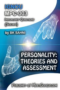 MPC 003  PERSONALITY  THEORIES AND ASSESSMENT Book