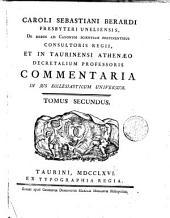 Caroli Sebastiani Berardi ... Commentaria in jus ecclesiaticum universum: Volumes 1-2
