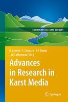 Advances in Research in Karst Media PDF