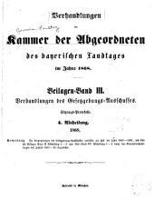 Verhandlungen des Bayerischen Landtags: Band 4