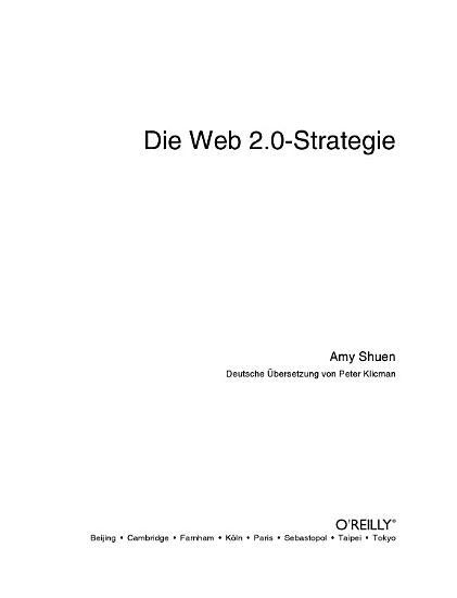Die Web 2 0 Strategie PDF