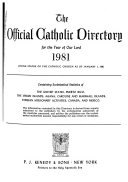 The Official Catholic Directory For The Year Of Our Lord  Book PDF