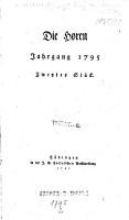 Die    Horen PDF
