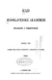 Rad Jugoslavenske akademije znanosti i umjetnosti: Volumes 103-105