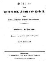 Bl  tter f  r Literatur  Kunst und Kritik PDF