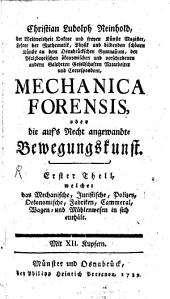 Mechanica forensis