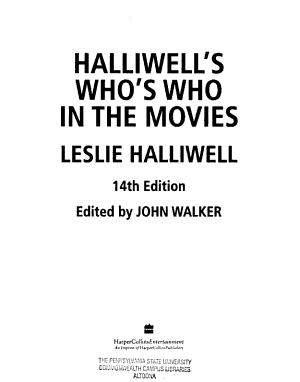 Halliwell s Who s who in the Movies PDF