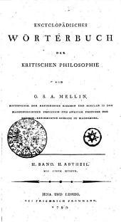 Encyclopädisches Wörterbuch der kritischen Philosophie: mit einem Kupfer. II. Band, II. Abtheil, Band 2
