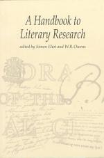 A Handbook to Literary Research
