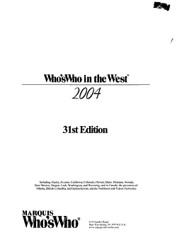 Who s who in the West PDF