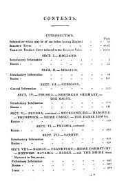 A hand-book for travellers on the continent. [1st] [2 issues of the 16th and 17th eds. The 18th ed. is in 2 pt. Pt.1 only of the 19th ed.].