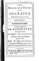 The Memorable Things of Socrates PDF