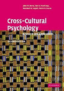 Cross Cultural Psychology Book