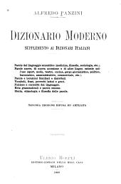Dizionario moderno: supplemento al dizionari italiani ...