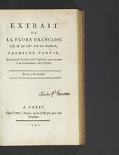 Extrait de la flore Francaise: Volumes1à2